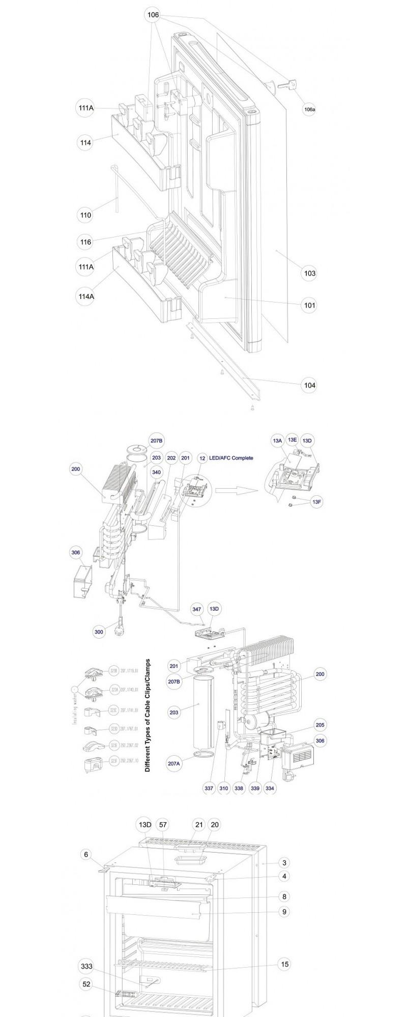 Despiece Minibar Dometic RH449
