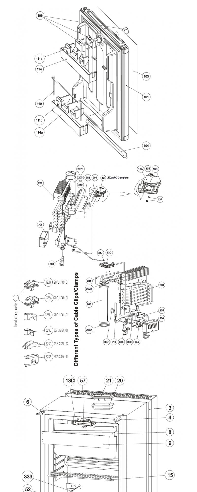 Despiece Minibar Dometic RH439